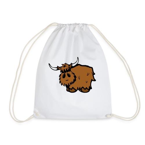 Hielan' Coo (white text) - Drawstring Bag