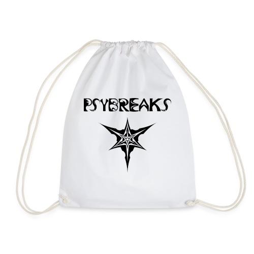 Psybreaks visuel 1 - text - black color - Sac de sport léger