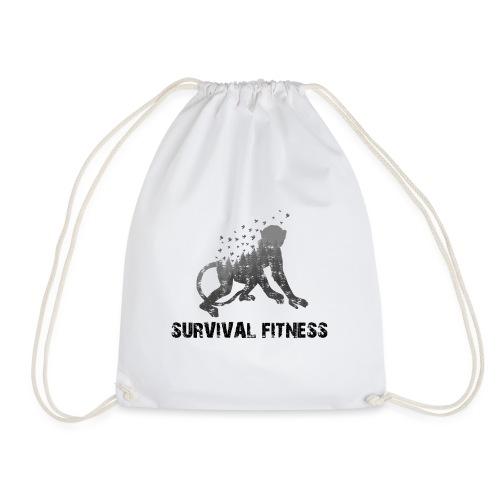 Survival Fitness Logo Schwarz - Turnbeutel