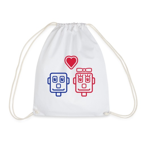 Motif Robots Amoureux - Sac de sport léger