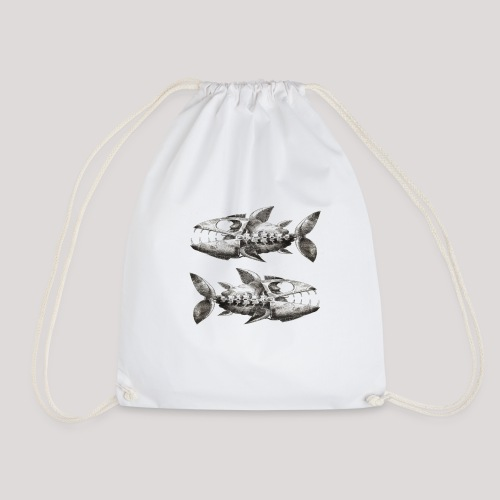 FishEtching - Drawstring Bag