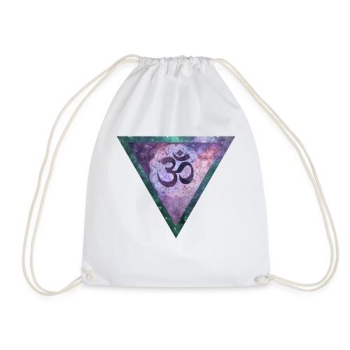 Galaxy Aum Triangle - Drawstring Bag