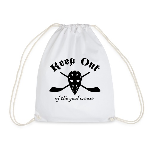 Keep Out Of The Goal Crease (Ice Hockey) - Drawstring Bag
