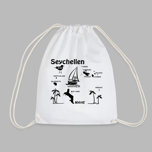 Seychellen Insel Crewshirt Mahe etc. - Turnbeutel