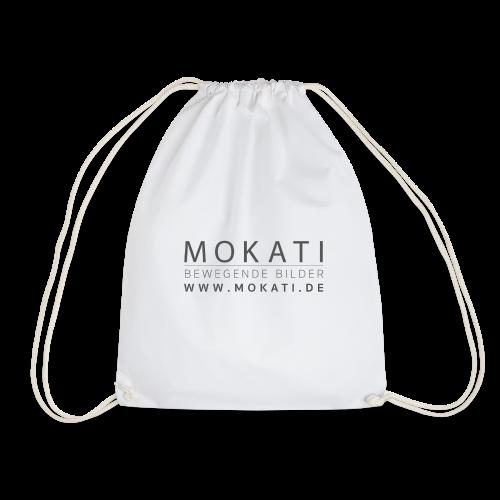 MOKATI bewegende bilder - Logo dunkelgrau - Turnbeutel