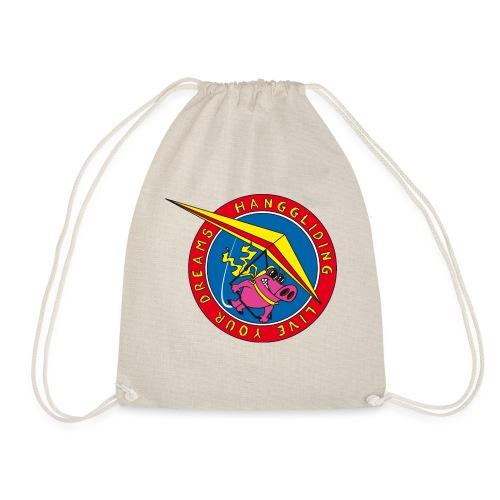 hanggliding pig - Drawstring Bag