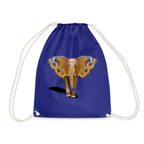 Schmetterling-Elefant - Turnbeutel