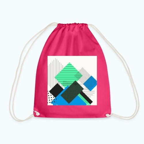 Abstract rectangles pastel - Drawstring Bag