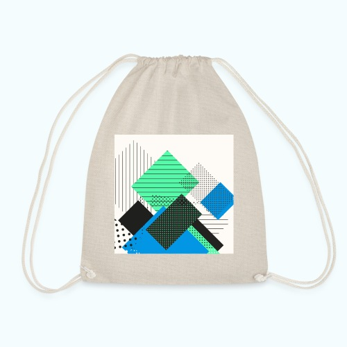 Abstract rectangles pastel - Drawstring Bag