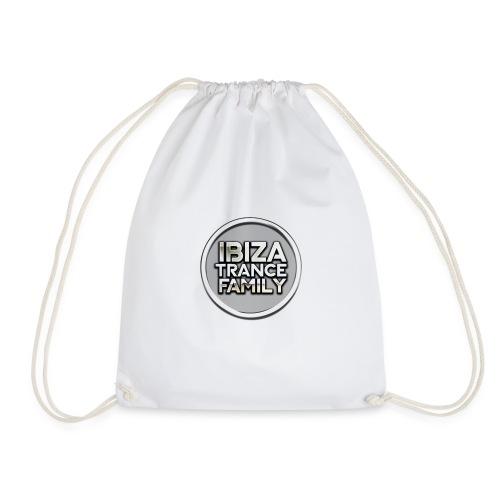 itf circle chrome trans png - Drawstring Bag