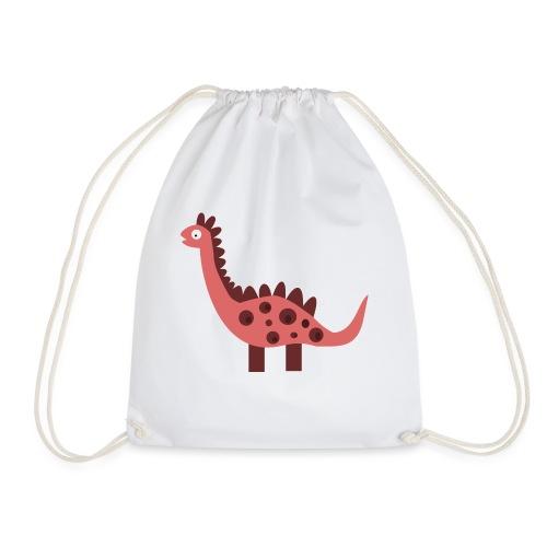Dino pink - Drawstring Bag