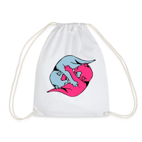 Yin and Yang Kitties - Drawstring Bag