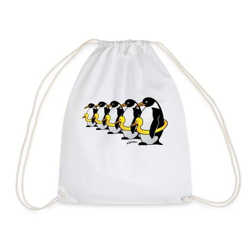 Pinguine mit Quietscheentchen - Turnbeutel