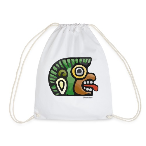 Aztec Icon Monkey - Drawstring Bag