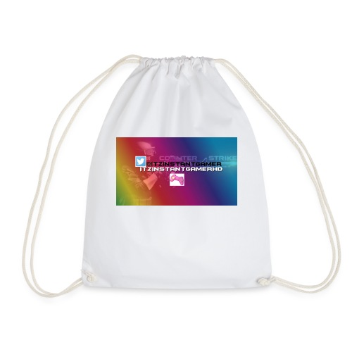 CHANNEL ART jpg - Drawstring Bag