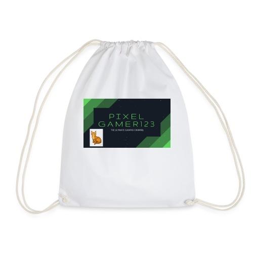PIXEL GAMER123 HEADER - Drawstring Bag