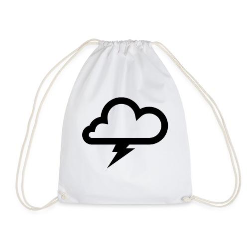 Wolke mit Blitz - Turnbeutel