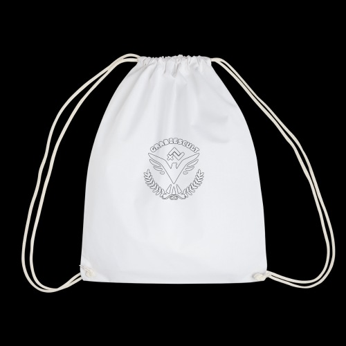 GrabiesCult white logo - Sportstaske