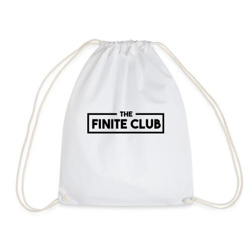 The Finite Club Box Logo Black - Drawstring Bag