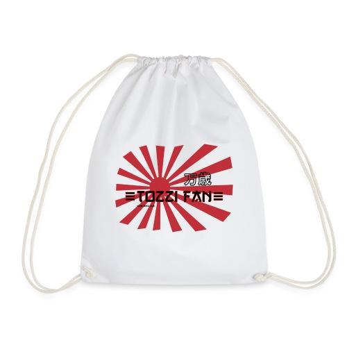 TozziFan White Flag - Drawstring Bag