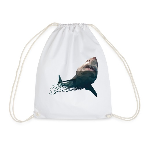 shark2-png - Drawstring Bag