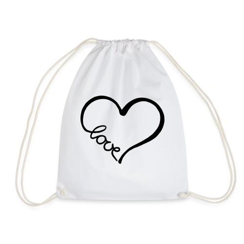 love heart 2 - Drawstring Bag