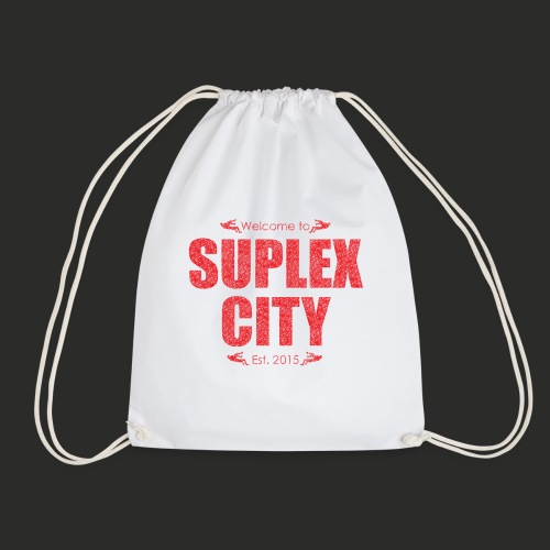 Suplex City Mens T-Shirt - Drawstring Bag
