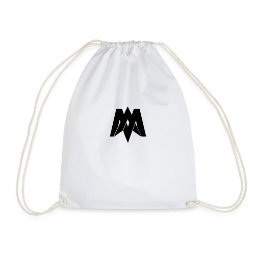 Mantra Fitness Slim Fit T-Shirt (White) - Drawstring Bag