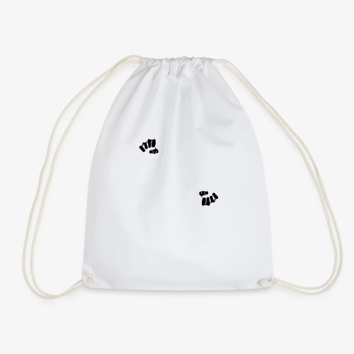 Whodiniz White Black - Drawstring Bag