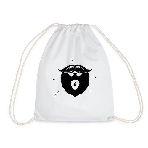 Studio Brewdio Logo Black Just Beard - Drawstring Bag