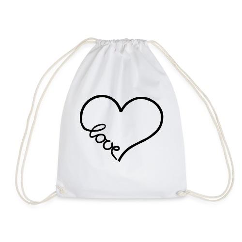 love heart 1 - Drawstring Bag