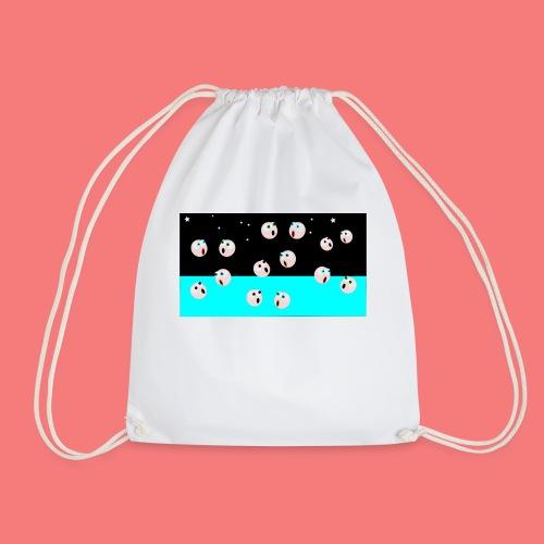 emoji looking for spacebar - Drawstring Bag