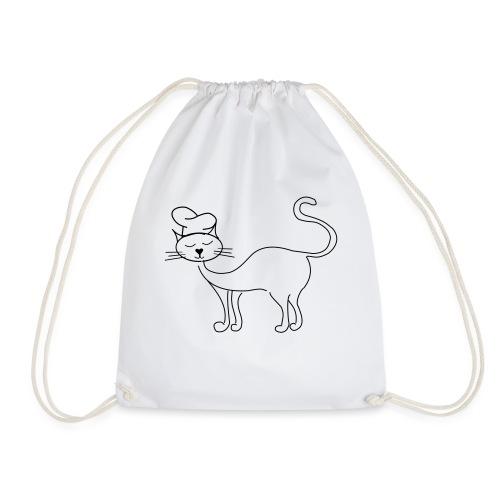 Katze mit Kochmütze - Turnbeutel
