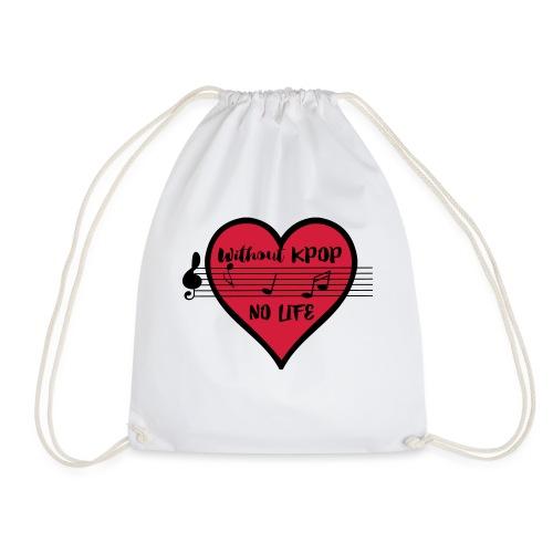 without kpop no life - Drawstring Bag