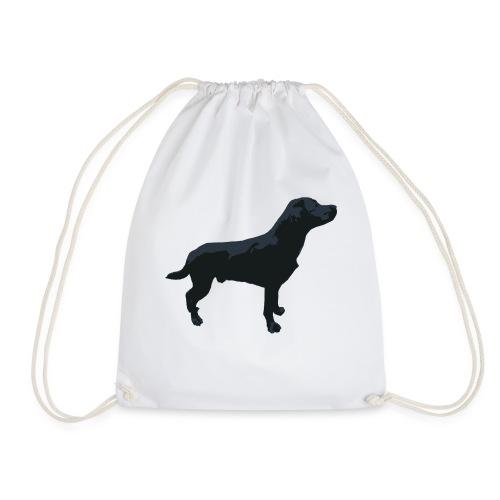 Labrador Hund stehend - ganzes Profil Seite - Turnbeutel