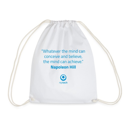 Niptech - Napoleon Hill quote T-Shirt - Drawstring Bag