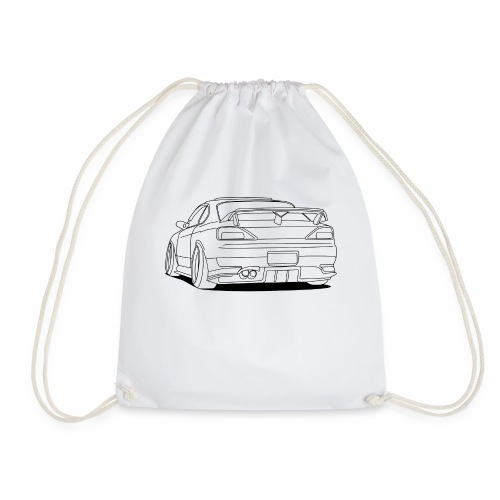 cool car white - Drawstring Bag