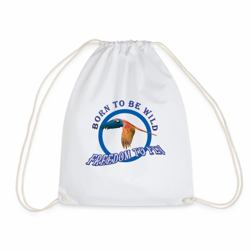 born to be wild papagaio blue 2018 new no backgrou - Drawstring Bag