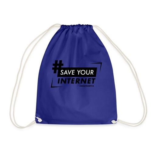 #SAVEYOURINTERNET - AGAINST ARTICLE 13! - Drawstring Bag