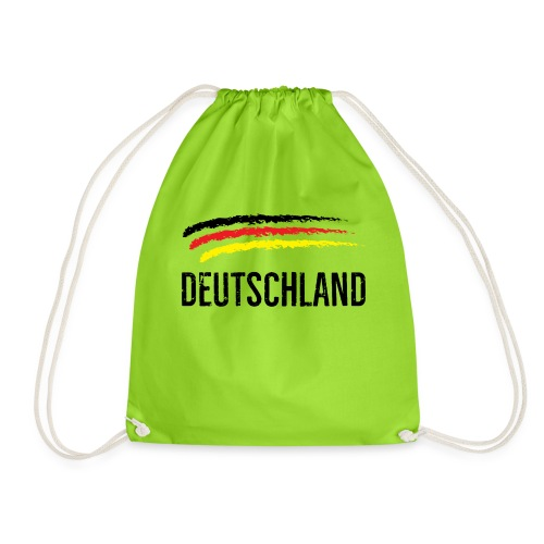Deutschland, Flag of Germany - Drawstring Bag