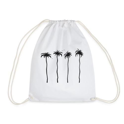 tropische Palmen - Turnbeutel