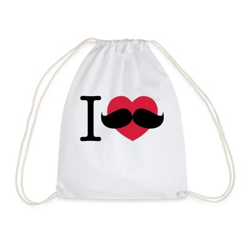 I Love Movember - Drawstring Bag