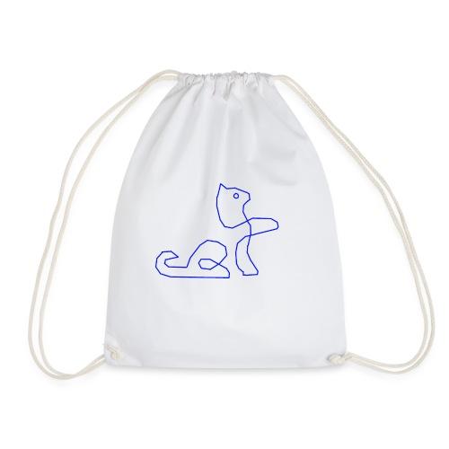 Blaue Katze - Turnbeutel