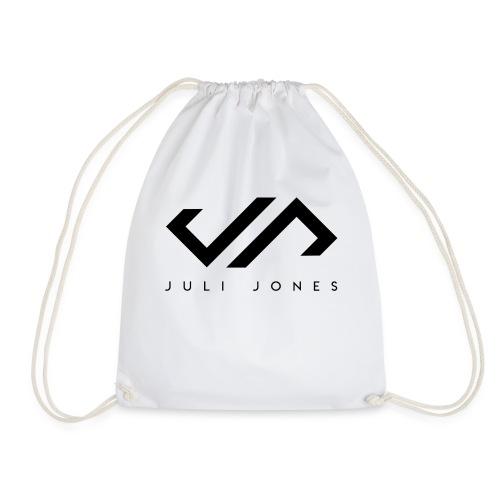 JuliJones Logo black - Turnbeutel