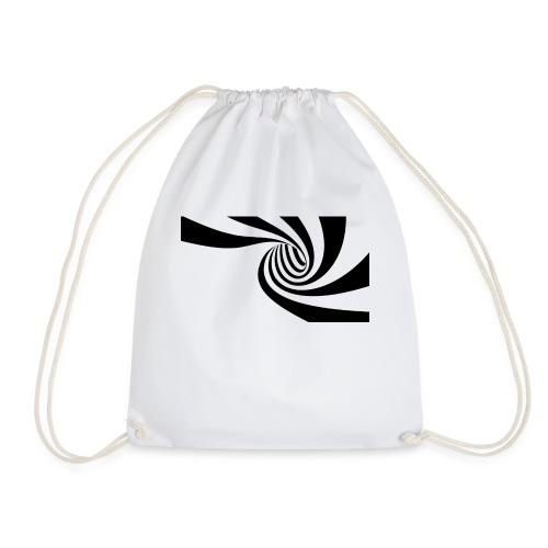 Schwarz - weiße Spirale - Turnbeutel