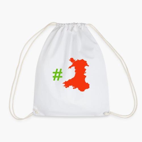 Hashtag Wales - Drawstring Bag
