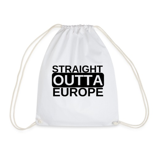 Leave EU Referendum Brexit T Shirt Straight Outta - Drawstring Bag