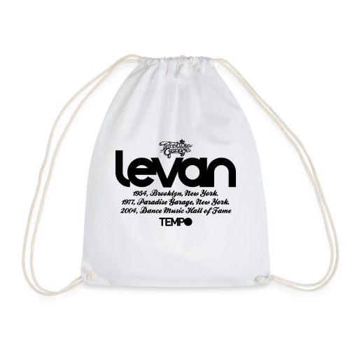 Levan Paradise Garage in Black - Drawstring Bag