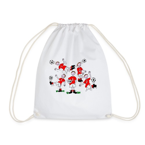 Cartoon Football Player - Drawstring Bag