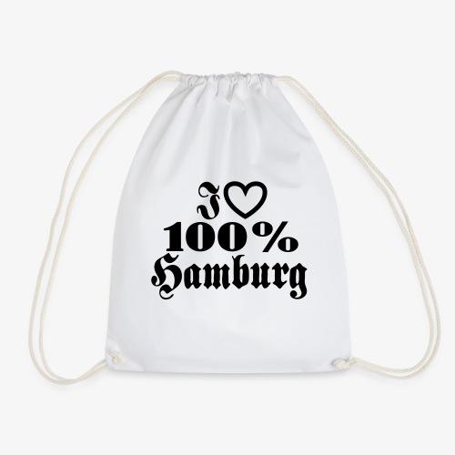 I love 100% Hamburg 1c / Herz - Turnbeutel